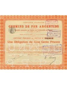 Cie Française des Chemins de fer Argentins