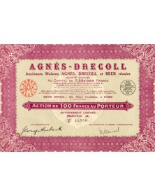 Agnès-Drecoll, Anciennes Maisons Agnès, Drecoll et Beer réunies