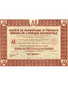 Sté de Plantations et Produits dérivés de l'Afrique Occidentale