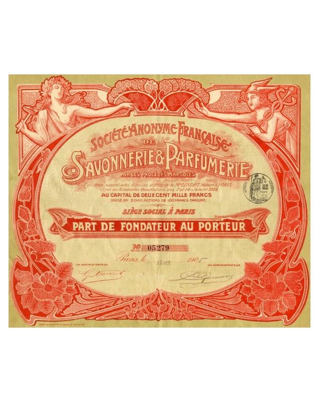 S.A. Française de Savonnerie & Parfumerie, par les Procédés Margoles