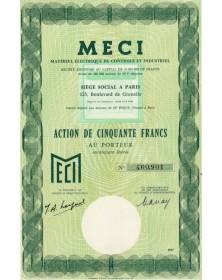 Matériel Electrique de Controle et Industriel (MECI)
