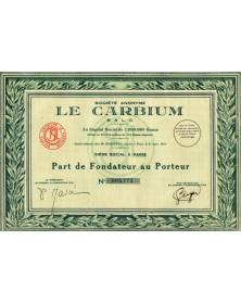 """Sté Anonyme -Le Carbium-"""""""""""