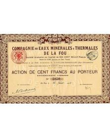 Cie des Eaux Minérales & Thermales de la Fou