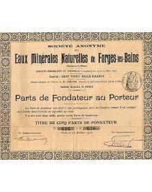 S.A. des Eaux Minérales Naturelles de Forges-les-Bains