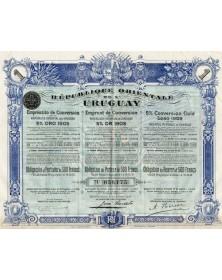 Oriental Republic of Uruguay - 5% Conversion Gold Loan