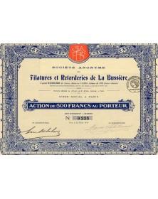 Filatures et Retorderies de La Bussière
