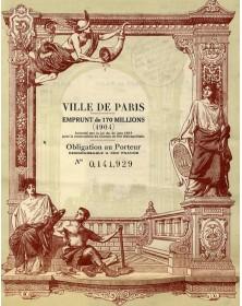 City of Paris - Construction of Metropolitan Railway. 170 Billions of F Loan (1904)