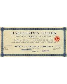 Sté Etablissements Soulier (Papeterie)