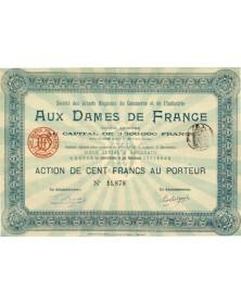 Sté des Grands Magasins Aux Dames de France