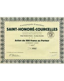 Compagnie Foncière Saint- Honoré- Courcelles