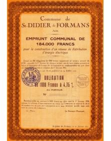 Commune de St-Didier de Formans (Ain)