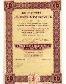 Sté Entreprise Lelièvre & Patenotte
