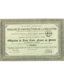 Sté Terrains et Construction de la Rue Littré