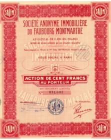 Sté Immobilière du Faubourg Montmartre