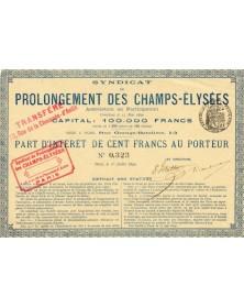 Syndicat du Prolongement des Champs-Elysées