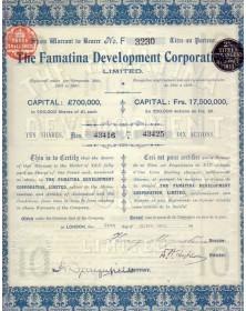 The Famatina Dev. Corp. Ltd