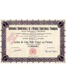 Cie Commerciale de l'Afrique Equatoriale Française (Anciens Ets F. Brandon)