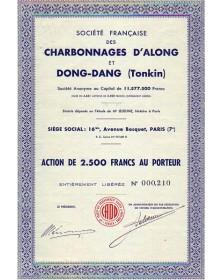 Charbonnages d'Along et Dong-Dang (Tonkin)