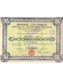 Banque Coloniale d'Etudes & d'Entreprises Mutuelles