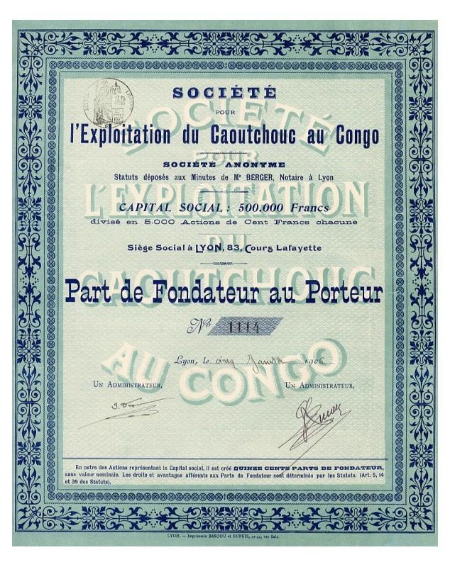 Sté pour l'Exploitation du Caoutchouc au Congo