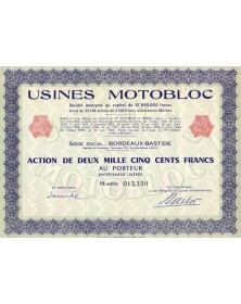 Usines Motobloc