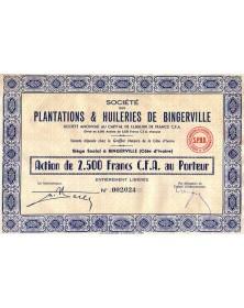 Plantations & Huileries de Bingerville