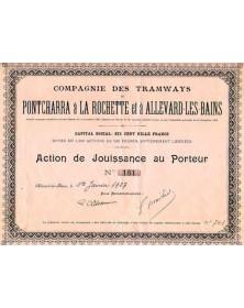 Cie des Tramways de Pontcharra à la Rochette, Isère