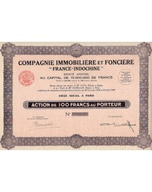 """Cie Immobilière -France-Indochine-"""""""""""