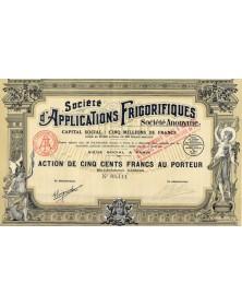 Sté d'Applications Frigorifiques