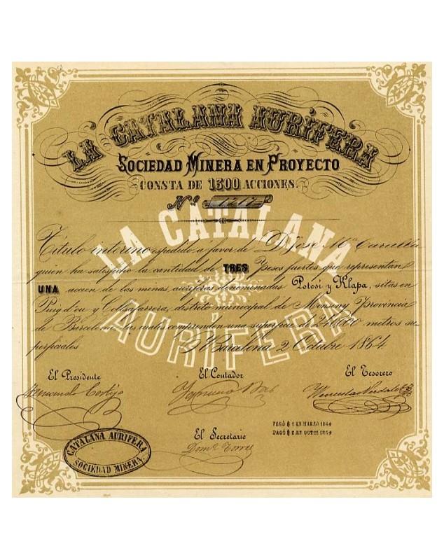 La Catalana Aurifèrea, Sociedad Minera en Proyecto Gold mines
