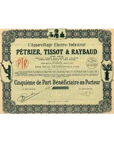 L'Appareillage Electro-Industriel Pétrier, Tissot & Raybaud