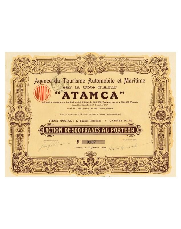 Agence du Tourisme Automobiles et Maritime ATAMCA