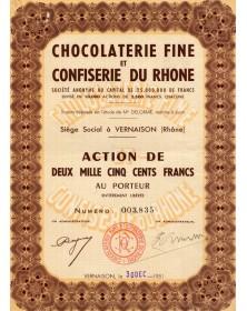 Chocolaterie fine et Confiserie du Rhone