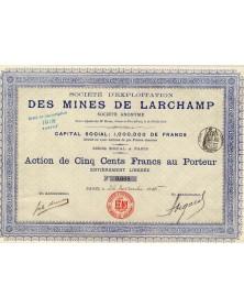 Sté d'Exploitation des Mines de Larchamp