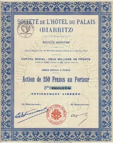 Sté de l'Hôtel du Palais de Biarritz