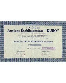 Sté des Anciens Ets ''Dubo''
