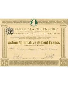 "Imprimerie - La Gutenberg-"""""