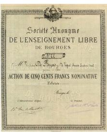 Sté de l'Enseignement Libre de Bourges