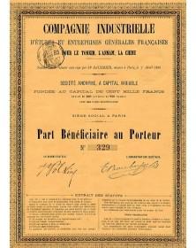 Cie Industrielle d'Etudes et Entreprises Générales Françaises pour le Tonkin, l'Annam, la Chine