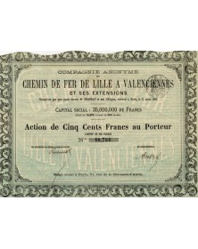 Railroads Cie du Chemin de Fer de Lille à Valenciennes et ses Extensions