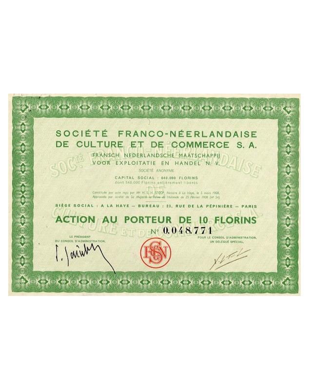 Sté Franco-Néerlandaise de Culture et de Commerce S.A.