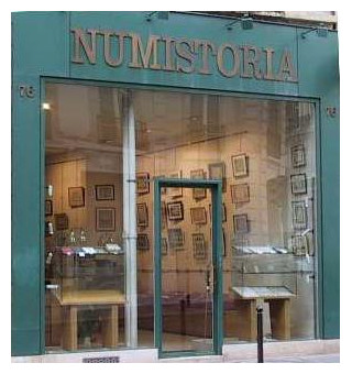 Ancien magasin Numistoria à Paris